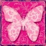 Adesivo Decoupage com Glitter Litocart 10x10 LAXG-031 Borboleta