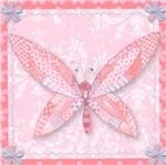 Adesivo Decoupage com Glitter Litocart 10x10 LAXG-045 Libélula