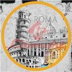 Adesivo Decoupage Redondo Roma P LARP-16 Litocart