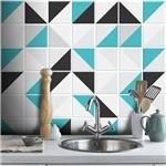 Papel de Parede Azulejo Retângulo