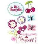 Adesivo Dimensional Temático Princesa Ad1169 11x14