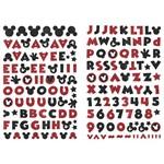 Adesivo Disney Alfabeto Eva Puro Glitter Toke e Crie 240 X 140 Mm - Mickey Mouse - 20805 - Add18