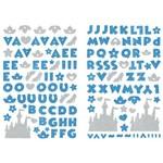 Adesivo Disney Alfabeto Eva Puro Glitter Toke e Crie 240 X 140 Mm - Princesas Azul - 20807 - Add20