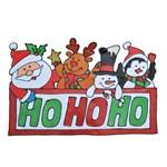 Adesivo em Gel de Natal P/ Decoração 35x42 Cm Vermelho