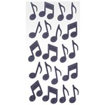 Adesivo Eva Puro Glitter Notas Musicais Ad1801 - Toke e Crie