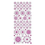 Adesivo Fashion C/Glitter Flores Ad1364 Tec