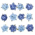 Adesivo Flor Mini Azul Ad1188 Toke e Crie