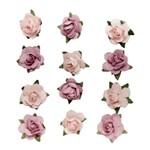 Adesivo Flor Mini Rosa Bebe Ad1186 Toke e Crie