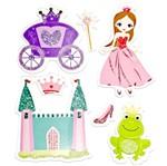 Adesivo FM C/Glitter Princesas AD1347 Toke e Crie