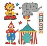 Adesivo Fm com Glitter Mini Circo Ad1498 - Toke e Crie