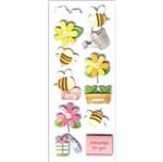 Adesivo Fofinho Abelhas e Flores 6899 Toke e Crie
