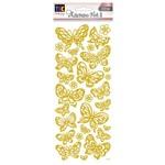 Adesivo Foil Ii Toke e Crie Borboletas Dourado Ad1899 20704