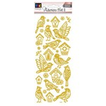 Adesivo Foil Ii Toke e Crie Passarinhos Dourado Ad1911 20706
