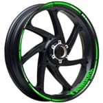 Adesivo Friso Refletivo Degradê Yamaha Fazer 250 Green