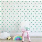 Adesivo Infantil Bolinhas Tons de Verde 144un