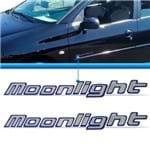 Adesivo Letreiro MoonLight Lateral Linha Peugeot Novo