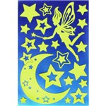 Adesivo Luminoso Fada e Estrelas Ad1278 Tec