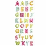 Adesivo Luxo de Glitter Toke e Crie Ad1852 Alfabeto Maiúsculo