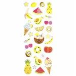 Adesivo Luxo de Glitter Toke e Crie Ad1854 Frutas