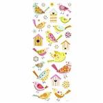 Adesivo Luxo de Glitter Toke e Crie Ad1855 Pássaros