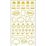 Adesivo Mini Foil Toke e Crie 206 X 90 Mm - Dourado Acessórios Masculino - 20945 - Ad1921