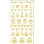 Adesivo Mini Foil Toke e Crie 206 X 90 Mm - Dourado Festa - 20951 - Ad1926