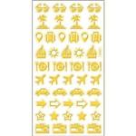 Adesivo Mini Foil Toke e Crie 206 X 90 Mm - Dourado Viagem - 20955 - Ad1930