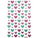 Adesivo Mini Puffy Corações Ad1764 - Toke e Crie