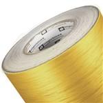 Adesivo Ouro Escovado Recorte Móveis Geladeira 0,10 1X1M