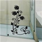 Adesivo para Box Banheiro Floral / Arabesco 2 Extra Grande 100x145cm