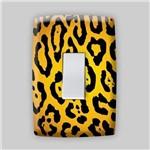 Adesivo para Espelho de Tomada ou Interruptor - Animais Pele de Onça