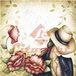 Adesivo Quadrado 15x15 Mulher Flor LAQXV-10 Litocart