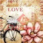 Adesivo Quadrado Love e Flor LAQ-95 - Litocart Papel Adesivo Decoupage Quadrado Love e Flor LAQ-95 - Litocart