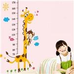 Adesivo Régua do Crescimento Infantil Medir Altura Criança Bebê Girafa com Macaco