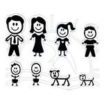 Adesivo Resinado - Família Preto