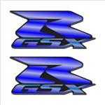 Adesivo Resinado Suzuki Gsxr Cromado Azul