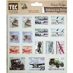 Adesivo Selo Vintage Transportes Ad146 - Toke e Crie