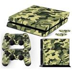 Adesivo Skin Playstation 4 Fat Camuflado Exército Verde