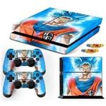 Adesivo Skin Playstation 4 Fat Goku Super Sayajin Blue