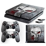 Adesivo Skin Playstation 4 Fat Justiceiro The Punisher