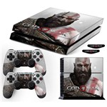 Adesivo Skin Playstation 4 Fat Kratos God Of War 4