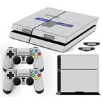 Adesivo Skin Playstation 4 Fat Super Nintendo Edition