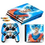 Adesivo Skin Playstation 4 Pro Goku Super Sayajin Blue