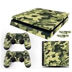Adesivo Skin PlayStation 4 Slim Camuflado Exército Verde