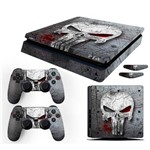 Adesivo Skin Playstation 4 SLIM Justiceiro The Punisher