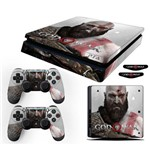 Adesivo Skin Playstation 4 Slim Kratos God Of War 4