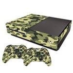 Adesivo Skin Xbox One Fat Camuflado Exércido Verde