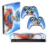 Adesivo Skin Xbox One X Goku Super Sayajin Blue