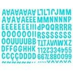 Adesivos Alfabeto Eva Azul Ref.16106-ADF1599 Toke e Crie