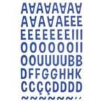Adesivos Alfabeto EVA Maiúsculo Azul Royal Ref.20078-ADF1602 Toke e Crie